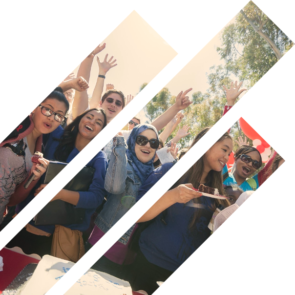 Students Posing for Camera