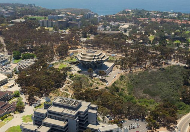 Aerial view of Geisel Library