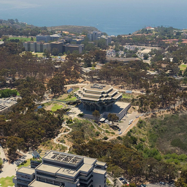 Geisel Library aerial view