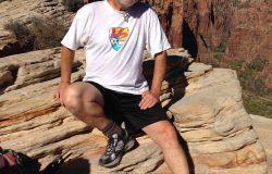 Man Sitting on Canyon